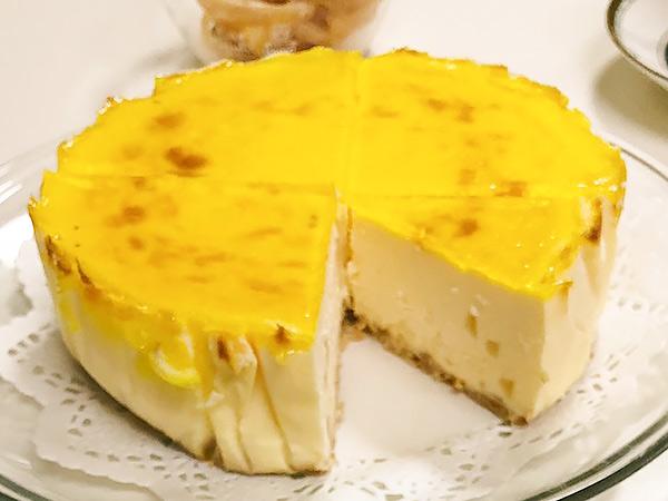 レモンのチーズケーキの画像