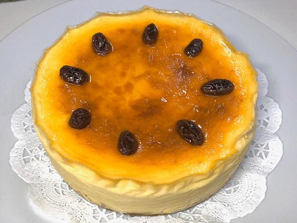 ラムレーズンのチーズケーキの画像