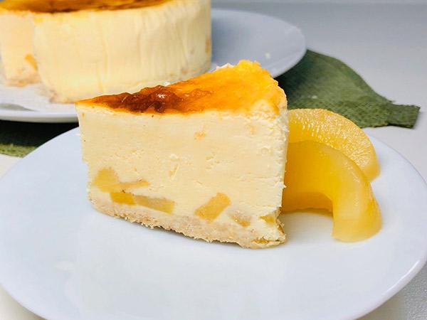 アップルシナモンのチーズケーキの画像