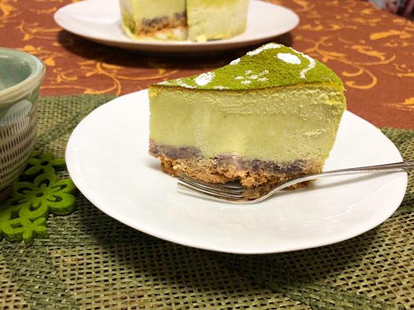 抹茶のチーズケーキの画像2